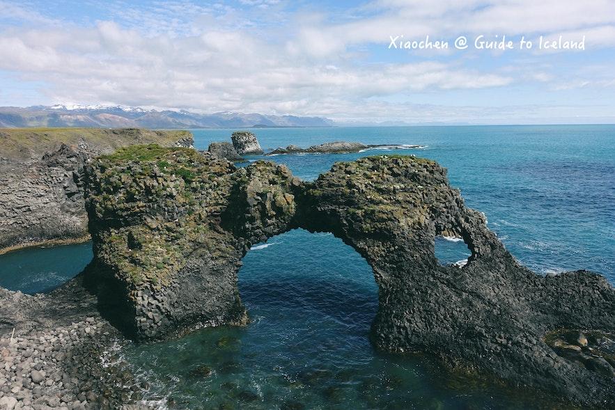 冰岛斯奈山景区自然风貌
