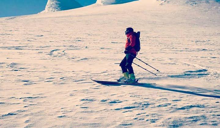 Board a snowcat and ski down an Icelandic glacier.