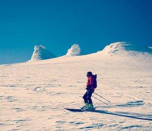 Downhill Skiing Adventure   Snaefellsjokull Glacier