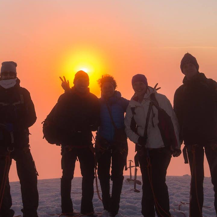 Snæfellsjökull is a beautiful glacier from which to admire the midnight sun.