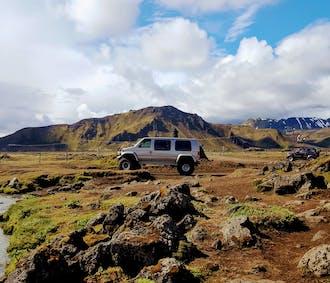 Tour in Super Jeep di Landmannalaugar e del vulcano Hekla