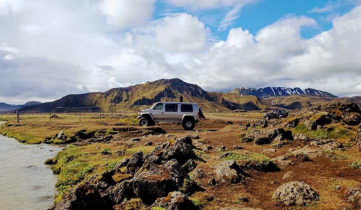 Ландманналёйгар и вулкан Хекла   Тур на супер-джипах