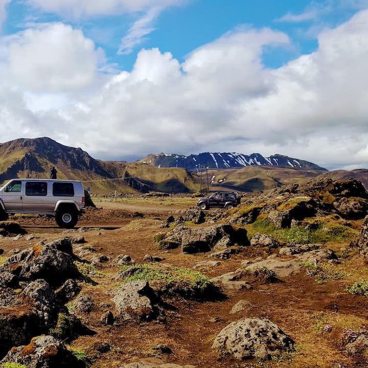 Tur med superjeep till Landmannalaugar och vulkanen Hekla