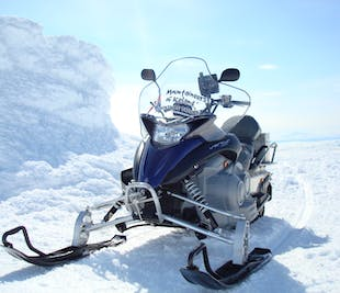 Snowmobile Tour on the west side of Langjokull Glacier
