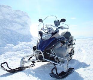 Snowmobile Tour on the west side of Langjokull Glacier