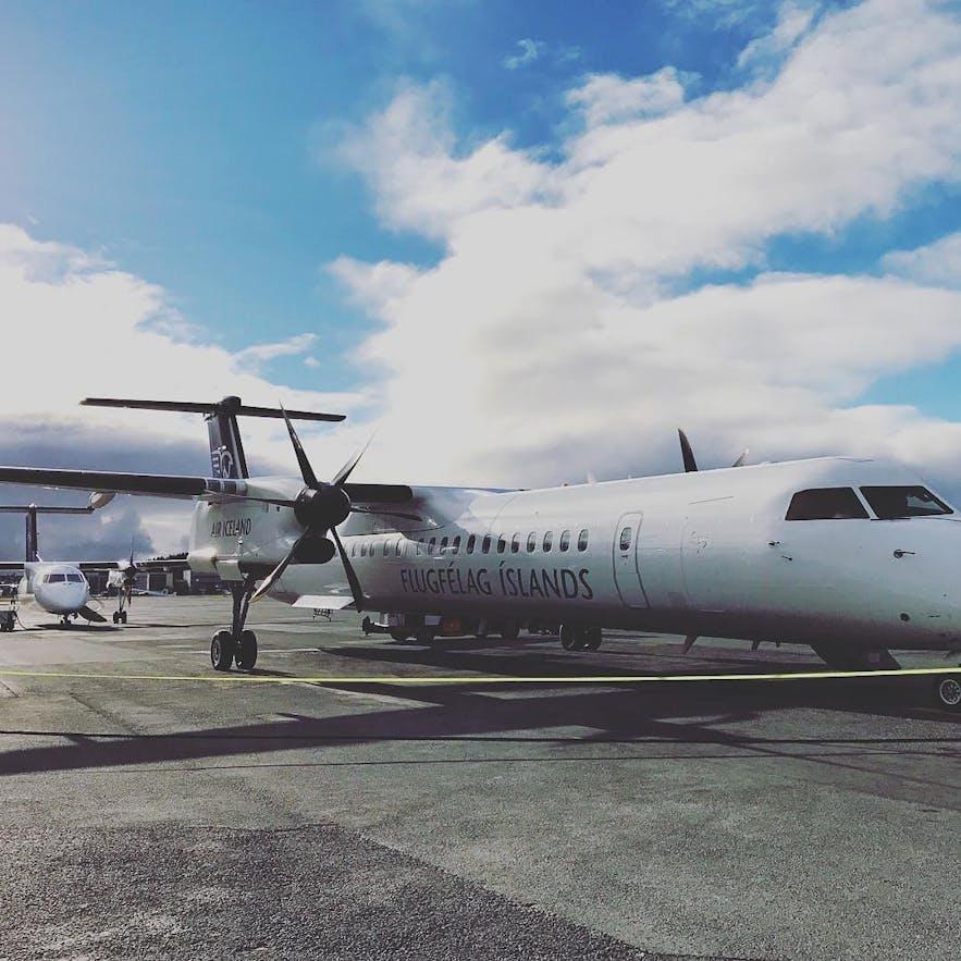 乘飞机前往冰岛西峡湾