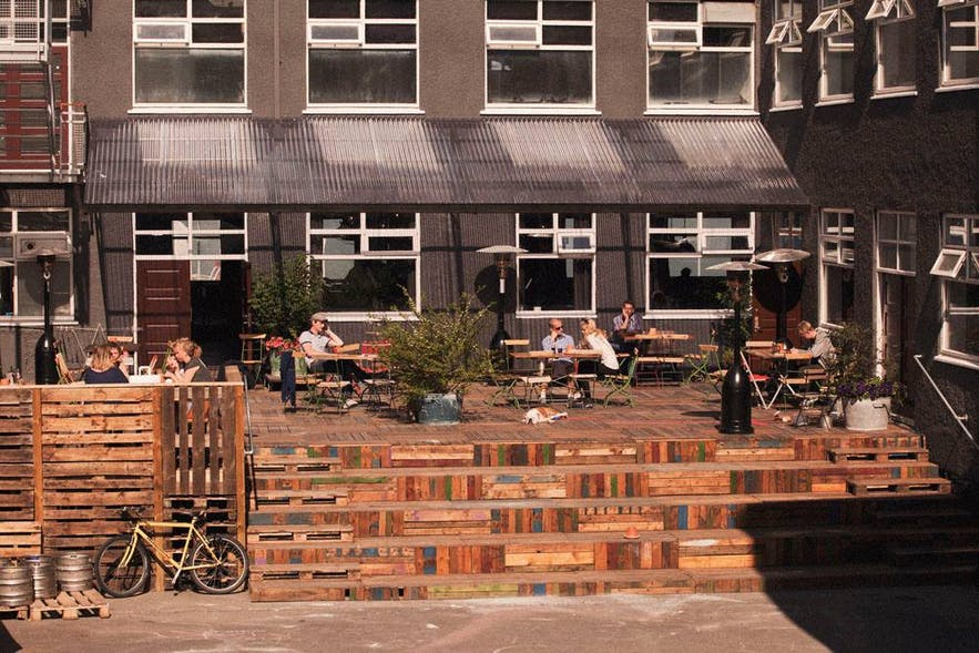 Kex has a sheltered beer garden, usable throughout the year.