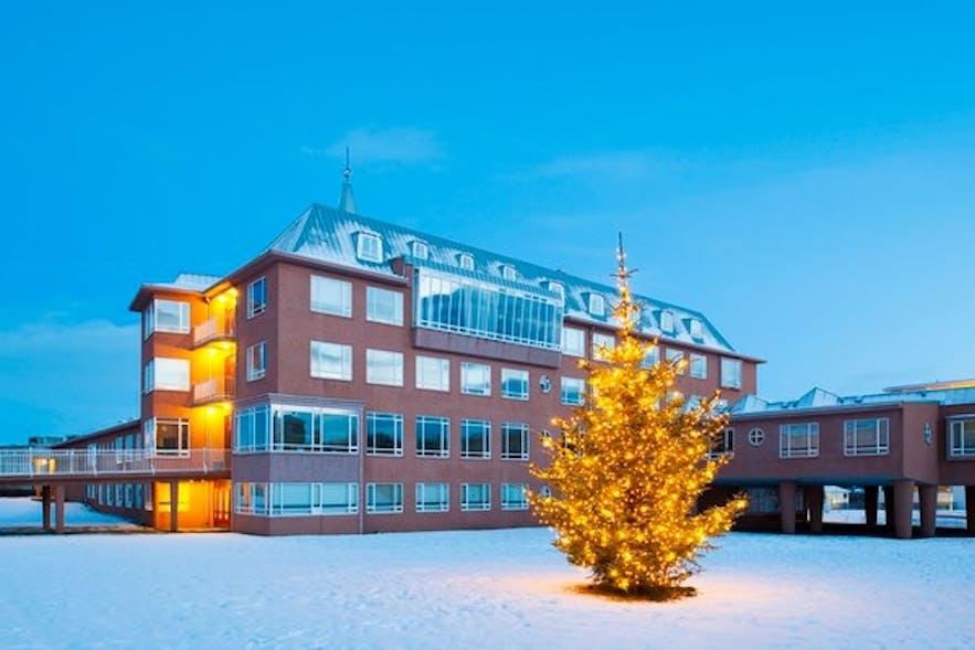 Hostel B47 in winter.