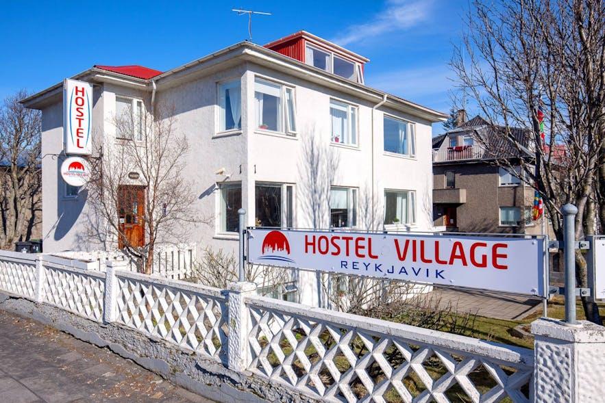 Reykjavík Hostel Village is spread across several buildings.