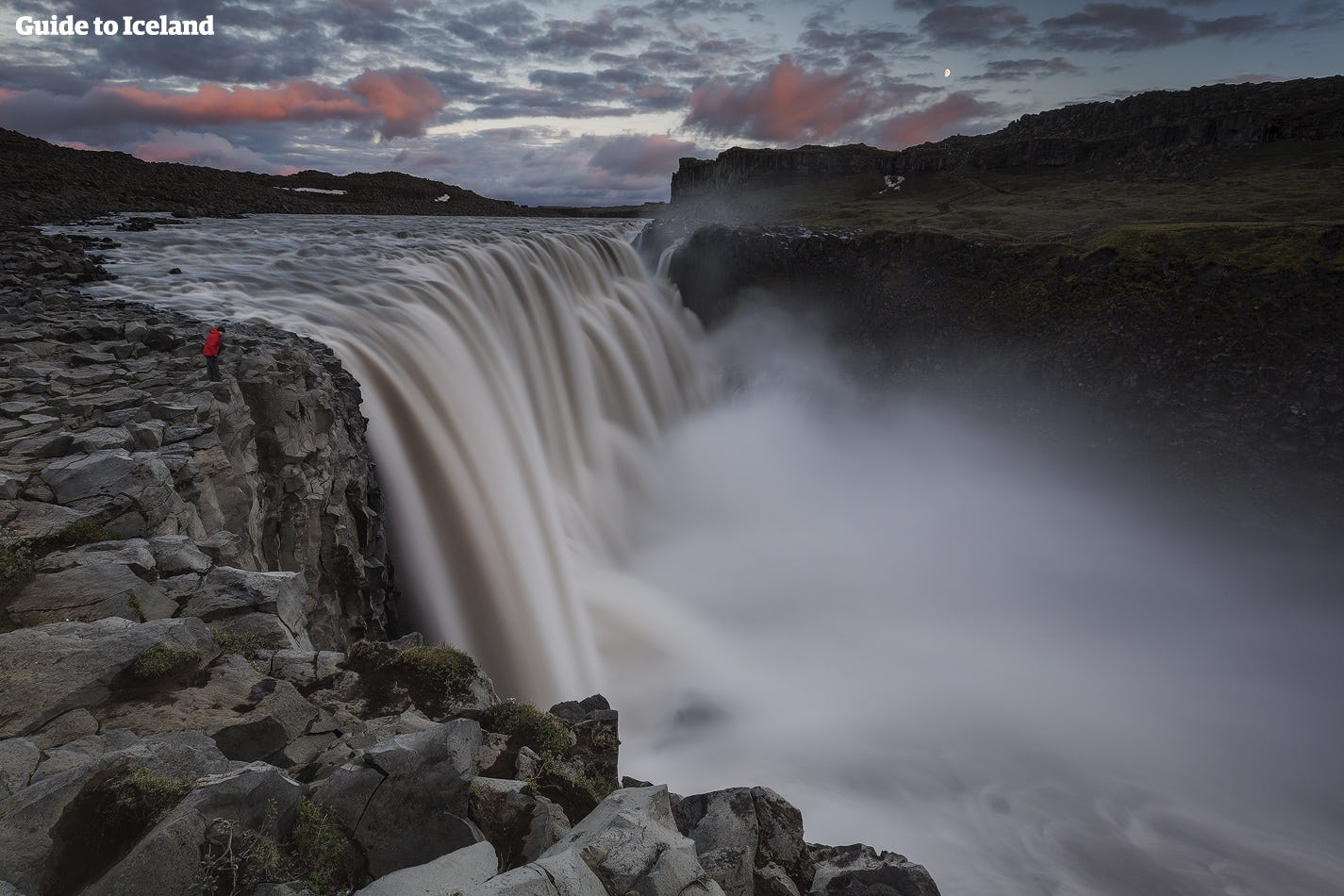 Dettifoss waterfall is fed by meltwater from Vatnajökull glacier.