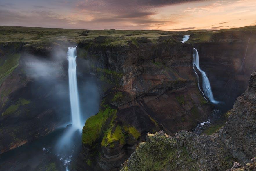 冰岛第二高的瀑布-Háifoss