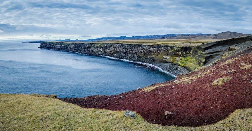Ces falaises sont l'une des meilleures pour l'observation d'oiseaux en Islande