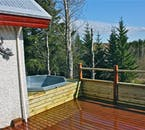 If you don't have a natural hot pool readily available, why not jump in the accommodation hot tub?