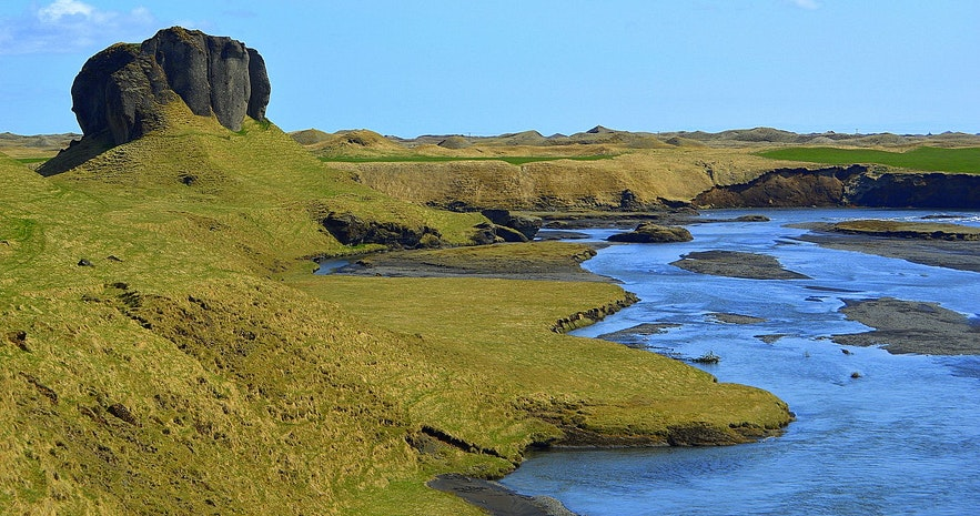 Systrastapi by Kirkjubæjarklaustur, a historic feature you can climb upon.