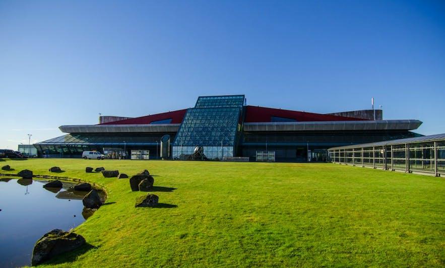 An exterior shot of Keflavik International Airport.