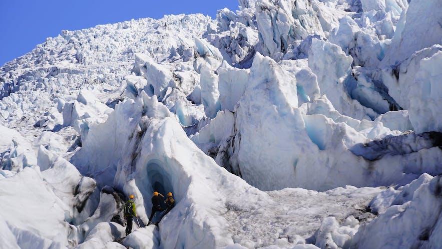 스카프타펠스요쿨 빙하 위의 아름다운 전경