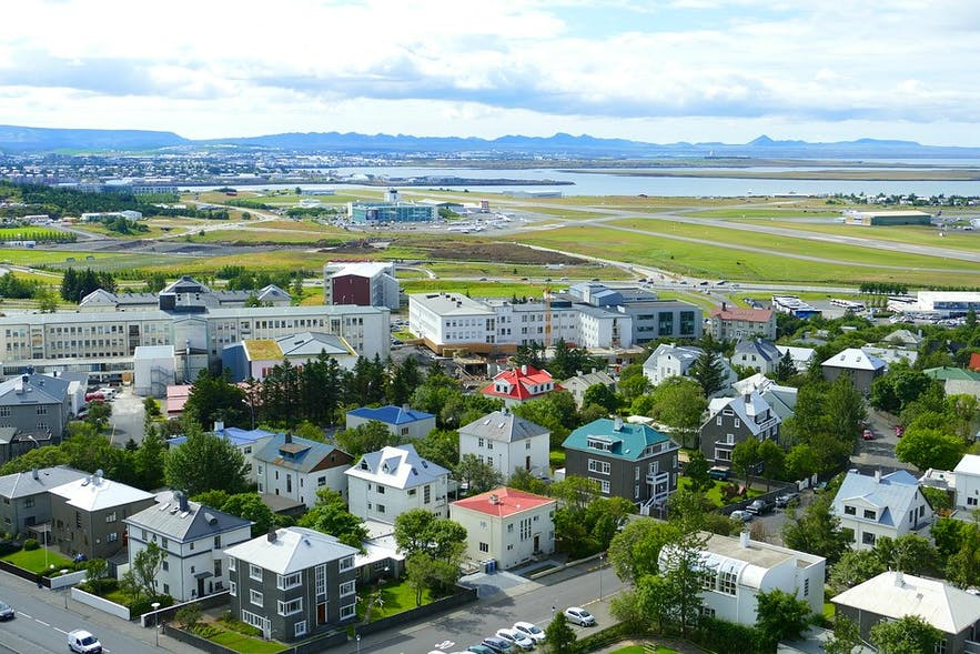 Reykjavik Airport is in the western part of the city. The city has, in fact, outgrown this relatively small airport.