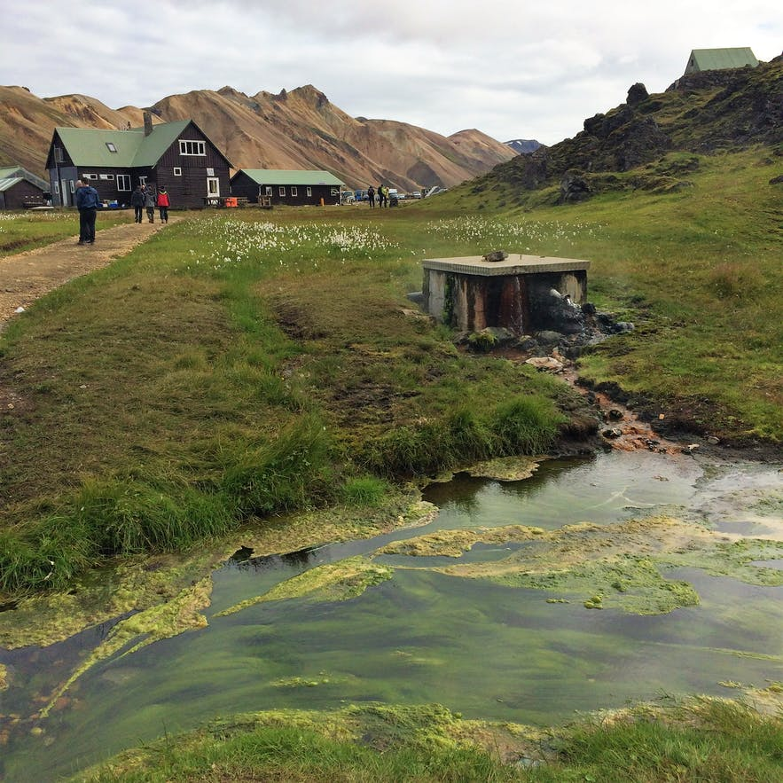 Der Beginn der Wanderroute bei Landmannalaugar