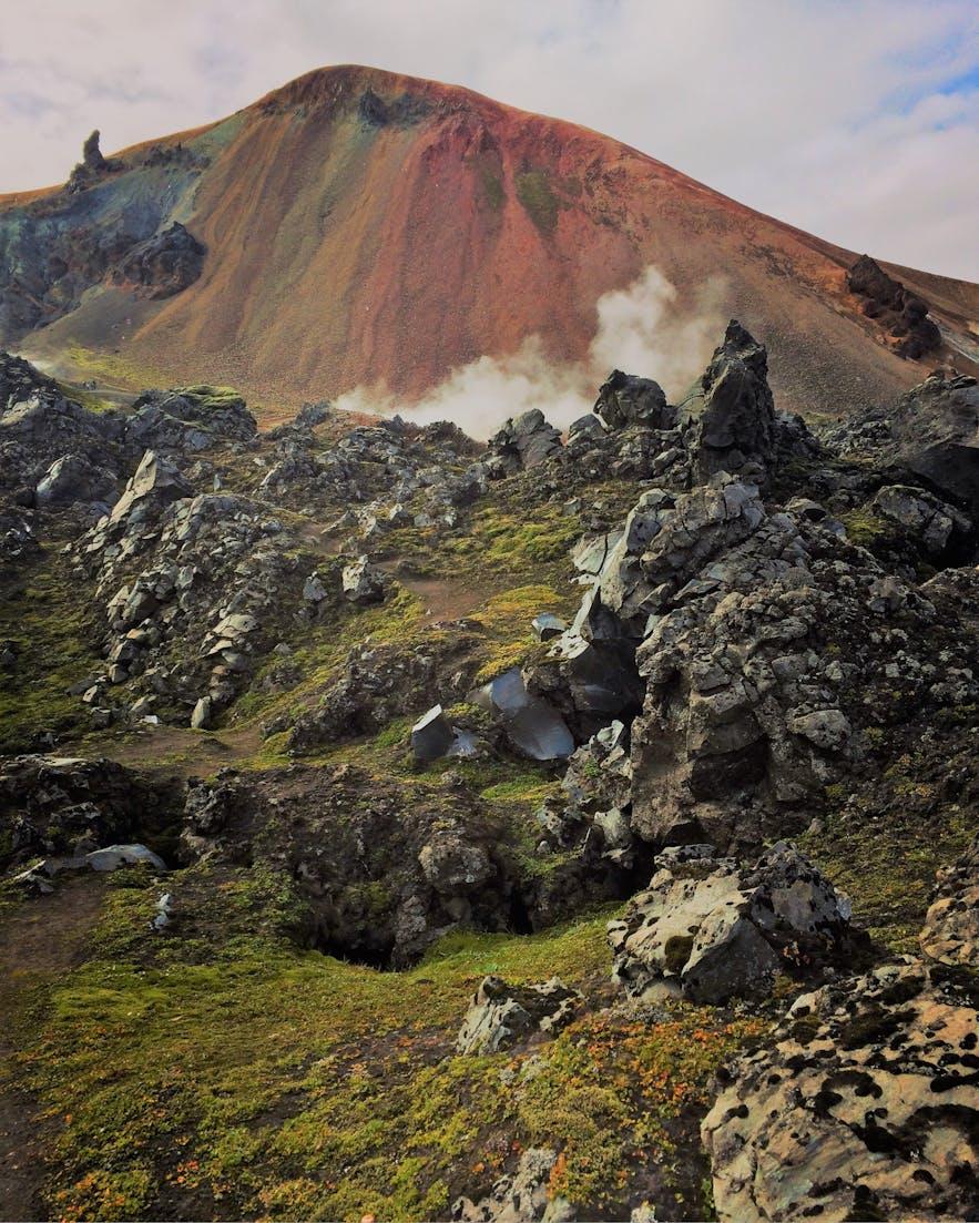 Der Vulkan Brennisteinsalda