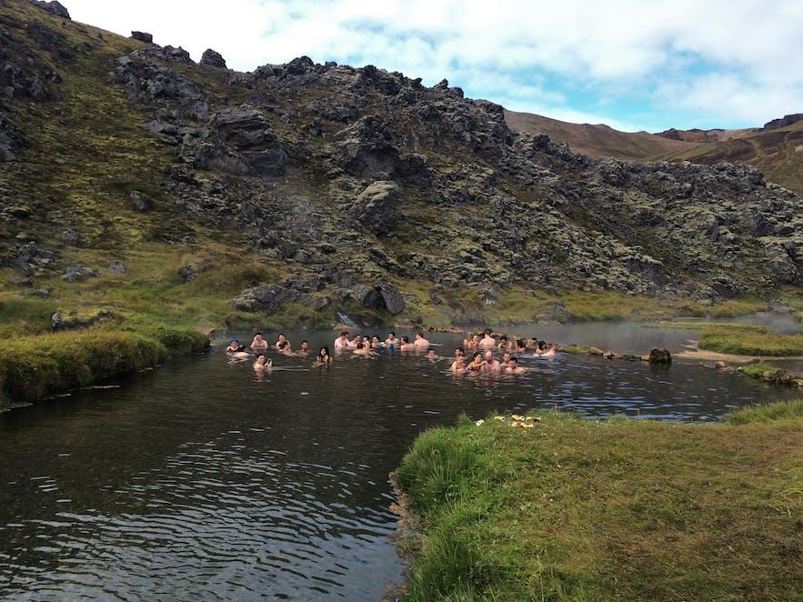 Der heiße Fluss bei Landmannalaugar