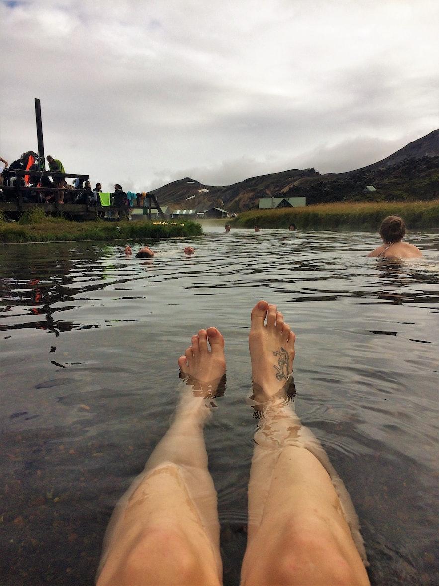 Der Hot Pot in Landmannalaugar