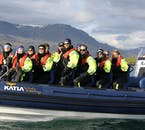 While bigger whale watching vessels hold crowds of people, RIB tours have just 12.