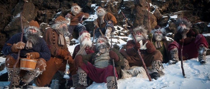 Einige der isländischen Weihnachtsgesellen
