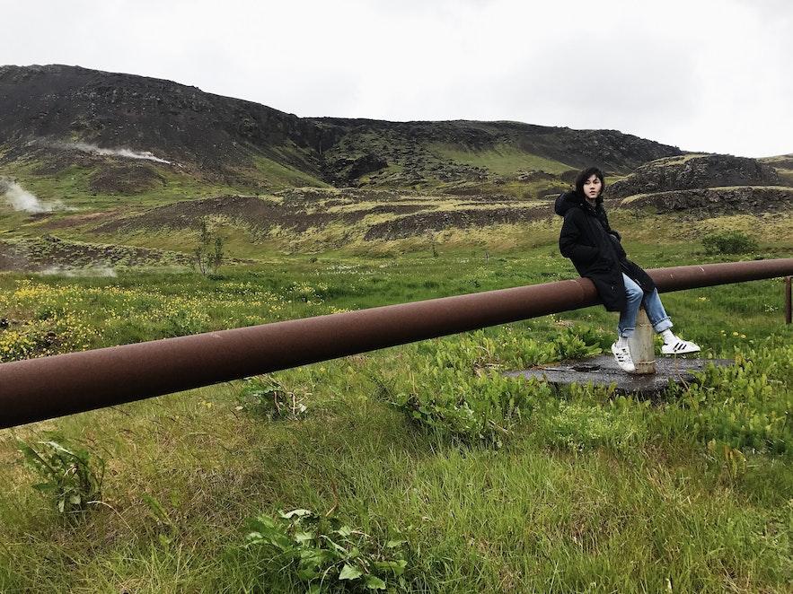 冰島南部Hveragerdi廢棄輸氣管