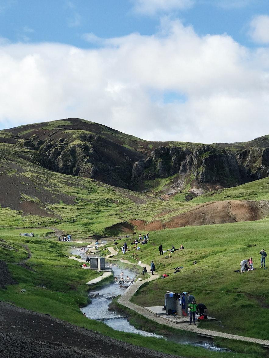 冰島Reyjhadalur 野溫泉河實景