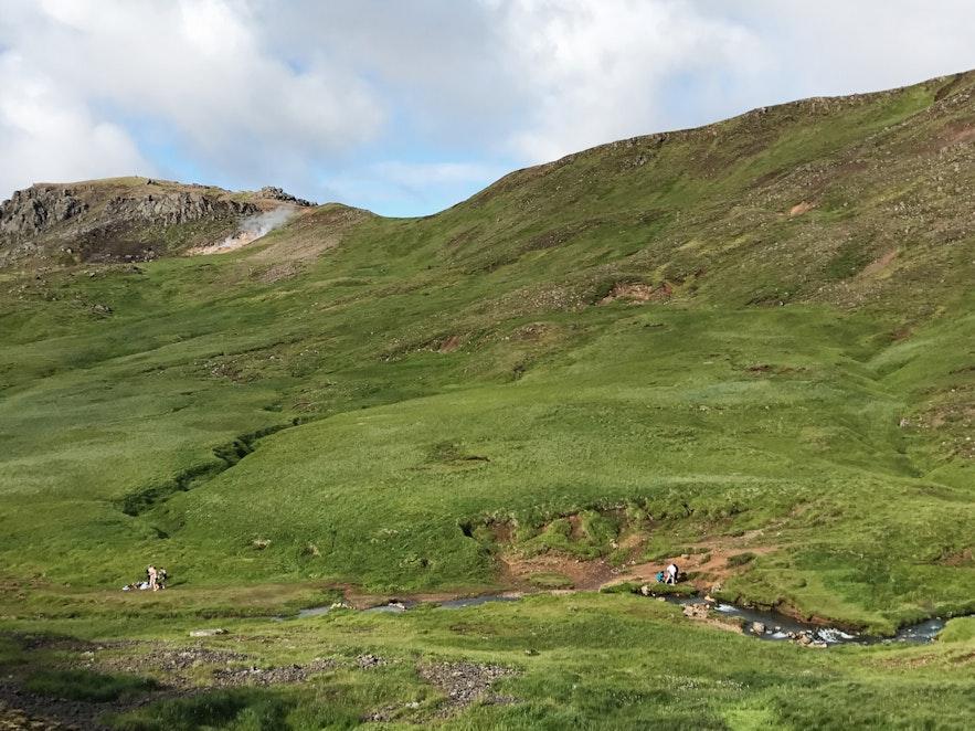 冰島Reykjadalur 溫泉河下游