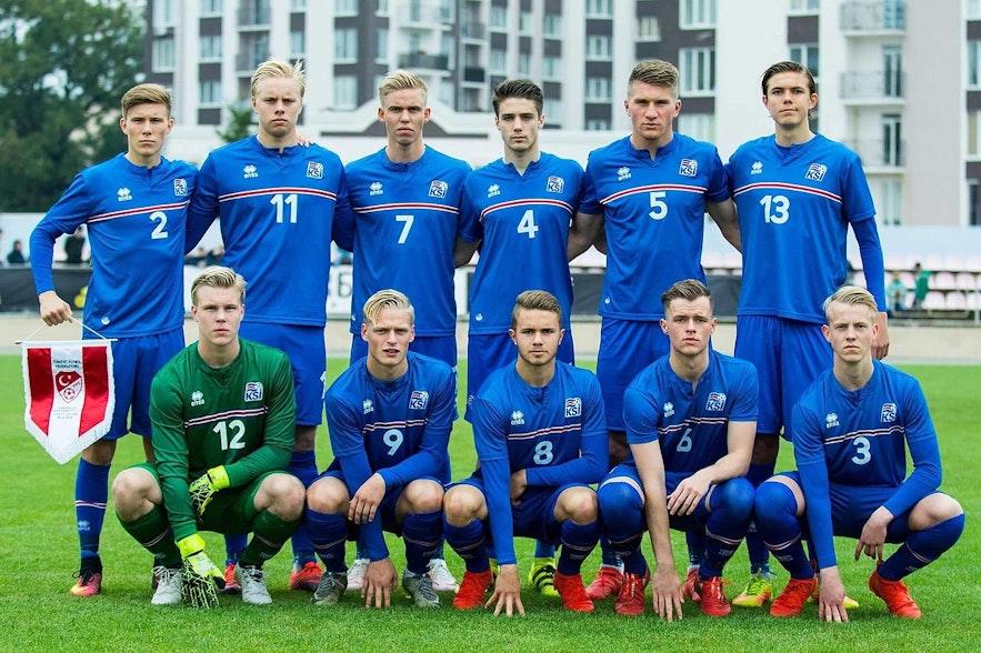 The Iceland's Under 19s Men's Side.