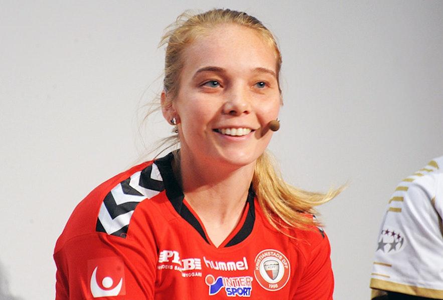 Margrét Lára Viðarsdóttirist ist eine der Starspielerinnen Islands und das Gesicht des Frauenfußballs im Land.