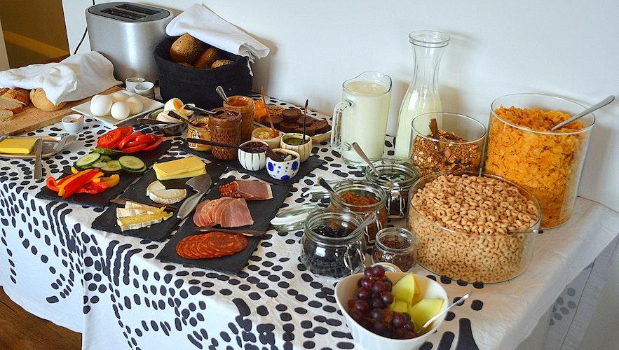 Breakfast Ráðagerði hotel Westfjords