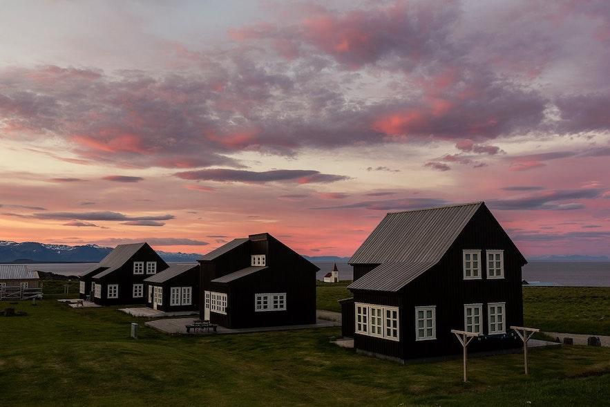 Hellnar, on the Snæfellsnes Peninsula, is a beautiful village.