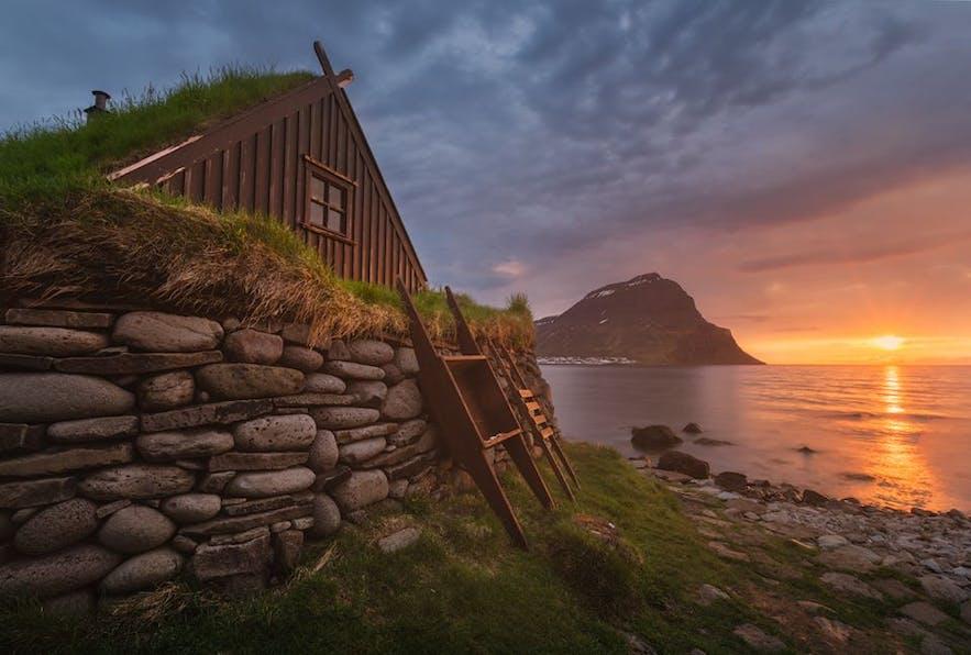 아이슬란드 웨스트피오르드의 아름다운 풍경