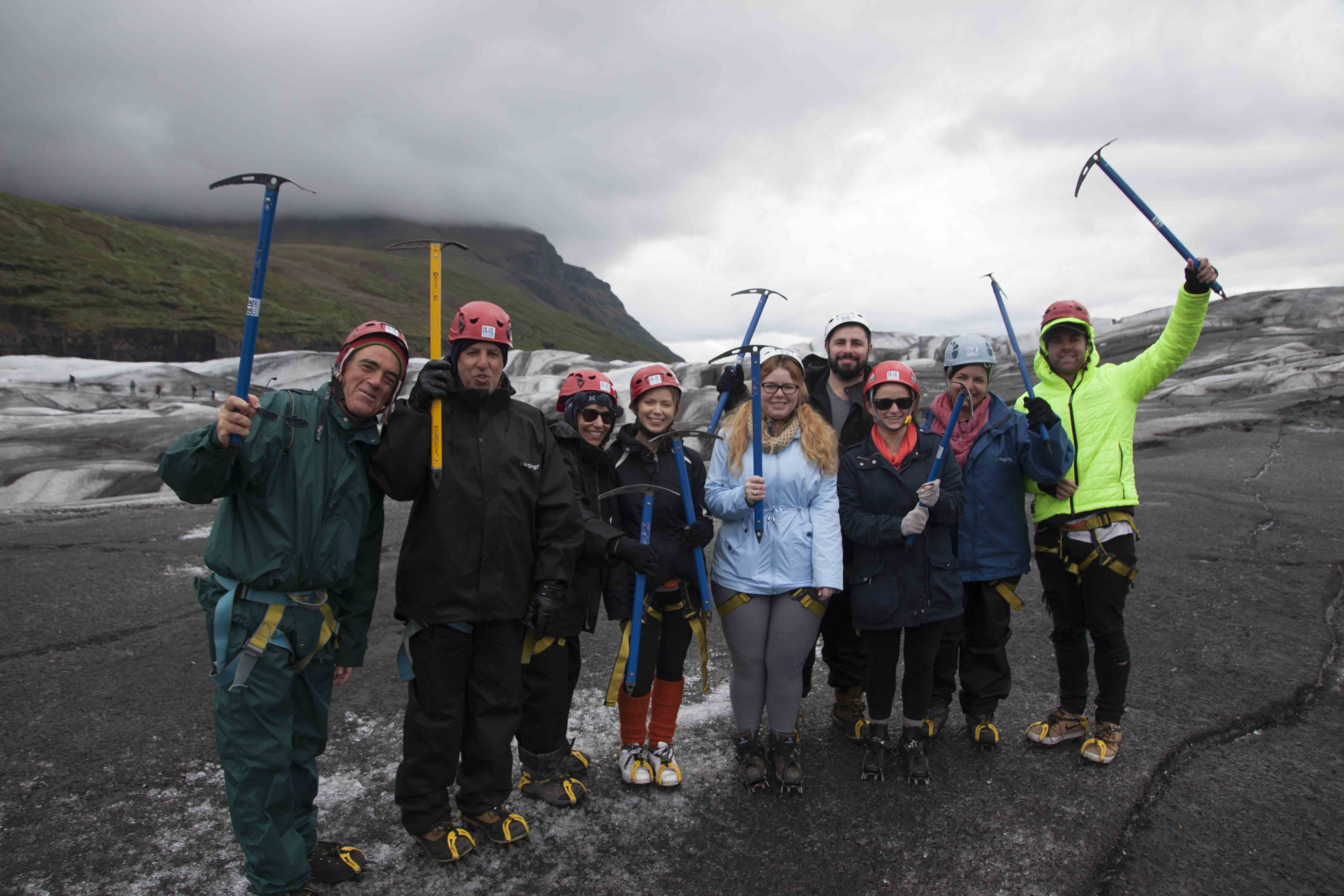 All helmets, ice axes and crampons are provided for you on this glacier hiking tour in the southeast of Iceland.