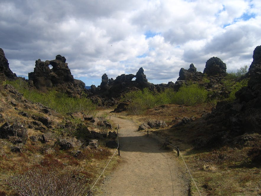 Dimmuborgir in the Lake Mývatn area.