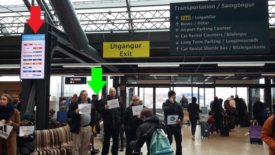 冰岛国际机场取车等待车行