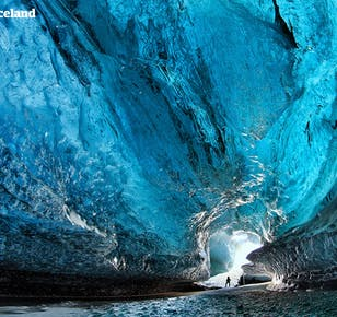 冬のセット割|ゴールデンサークル、氷の洞窟、日帰りのスナイフェルスネス半島 2in1