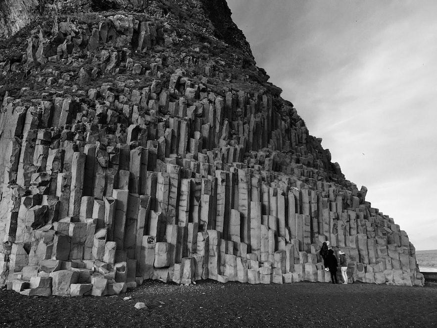 冰島玄武岩 黑沙灘