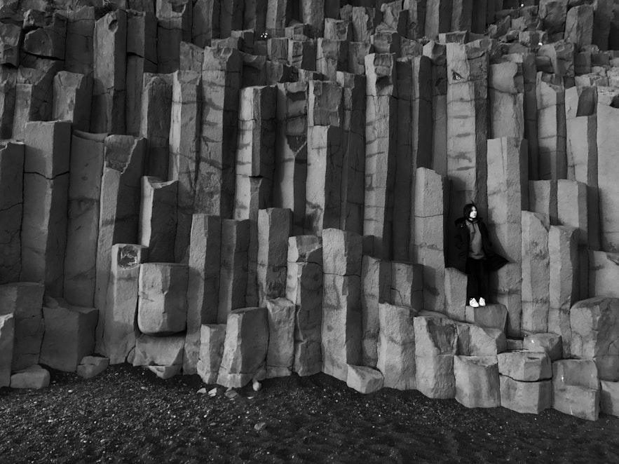 冰島玄武岩拍攝