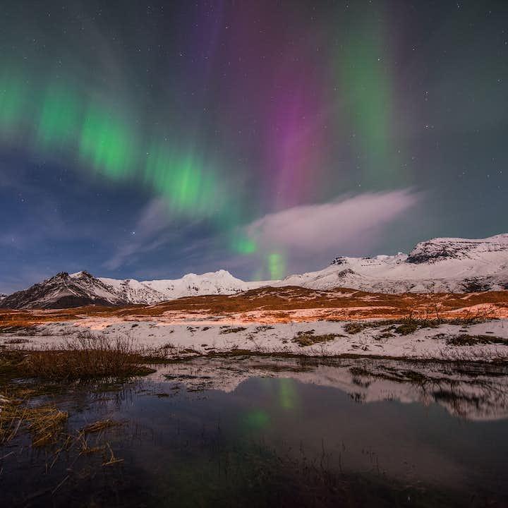 冰岛10天9夜冬季北极光旅行套餐|一号公路环岛全程+斯奈山半岛+沿途住宿