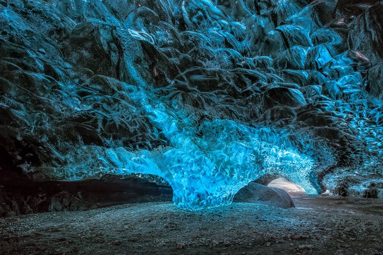The glacier ice caves on Iceland's South Coast are amongst the country's most stunning natural features.