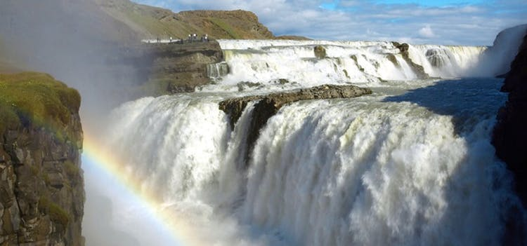 See the majestic Gullfoss waterfall on a 2-day horse riding tour.
