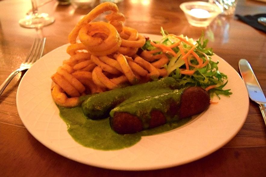 Bulsur vegan sausages at Pylsa/Pulsa