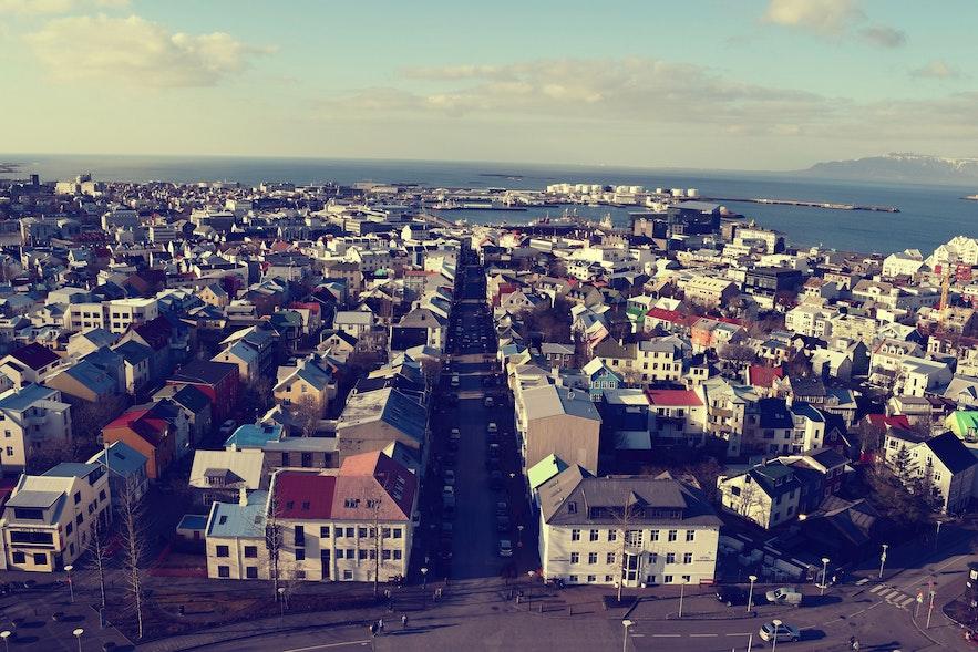 View of Reykjavik from Hallgrímskirkja Church
