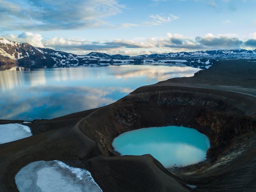 Lake Oskjuvatn and Viti Crater