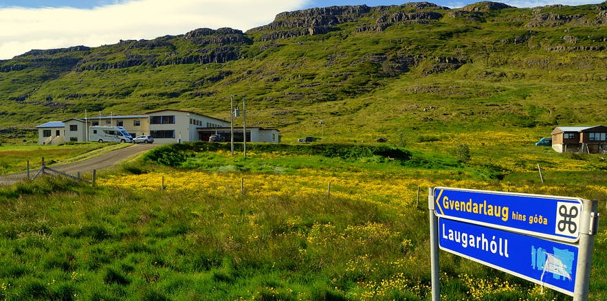 Hotel Laugarhóll at Strandir in the Westfjords of Iceland - hot Pools and Sorcery in Abundance