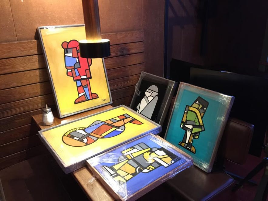 Every month, Mokka Kaffi exhibits artwork by local and international artists, all of which is for sale.