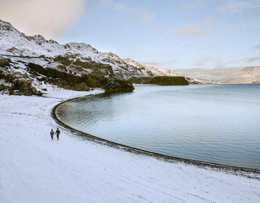 冰岛的12月旅拍景色